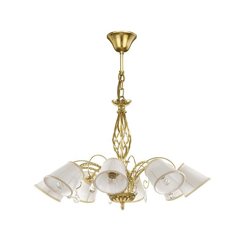 Lightstar 796183 (SD1115-8) Люстра ESEDRA 8x40W E27 GOLD FOIL ткань, шт lightstar люстра lightstar torcia 10х40w g9 белый ls 780100