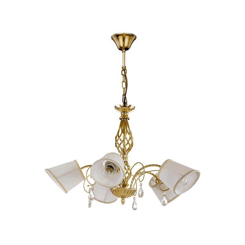 Lightstar 796153 (SD1115-5) Люстра ESEDRA 5x40W E27 GOLD FOIL ткань, шт lightstar 780100 sd1181 5 5 люстра torcia 10х40w g9 белый шт