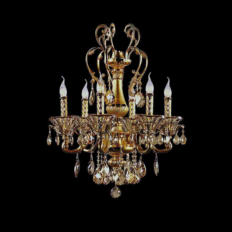 Lightstar 786082*** (MD6663/8) Люстра подвесная AMPOLLO 8х60W E14 24К ЗОЛОТО, шт люстра потолочная коллекция ampollo 786102 золото коньячный lightstar лайтстар page 8