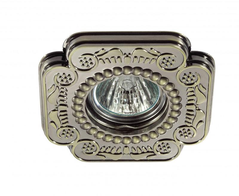 Фото Novotech 370284 NT17 248 бронза Встраиваемый стандартный светильник GU5.3 50W 12V LIGNA. Купить с доставкой