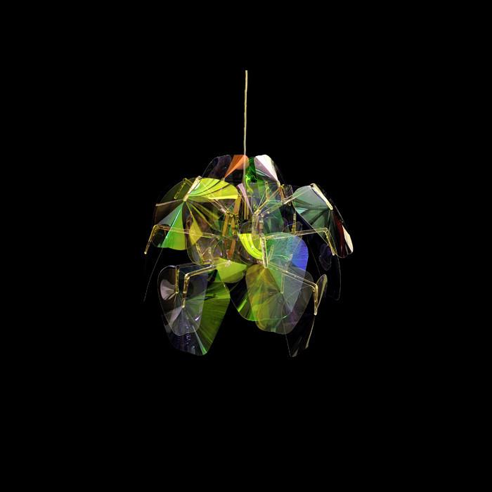 Artpole Светильник подвесной Mondstein C1, E27, 1х100 Вт, H200 (макс)хD50, разноцветный пластик, хром. мет. artpole светильник подвесной melone c bk e14 1х25 вт h11 5 200 макс хd24 9 черный шт