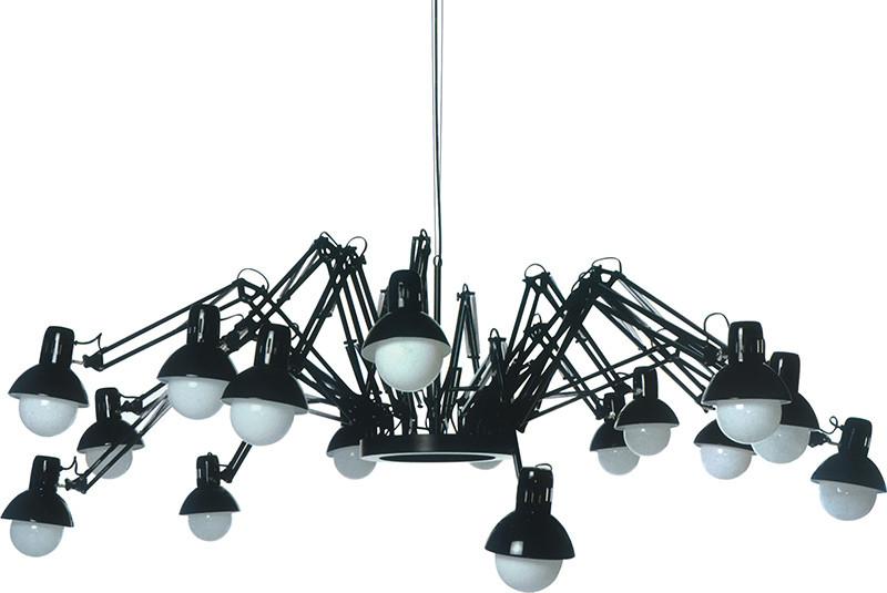 Artpole Светильник подвесной Spinne C2 BK, E27, 16х60 Вт, H85-200 (макс)хD230, черный (2 кор.), шт artpole светильник подвесной melone c bk e14 1х25 вт h11 5 200 макс хd24 9 черный шт
