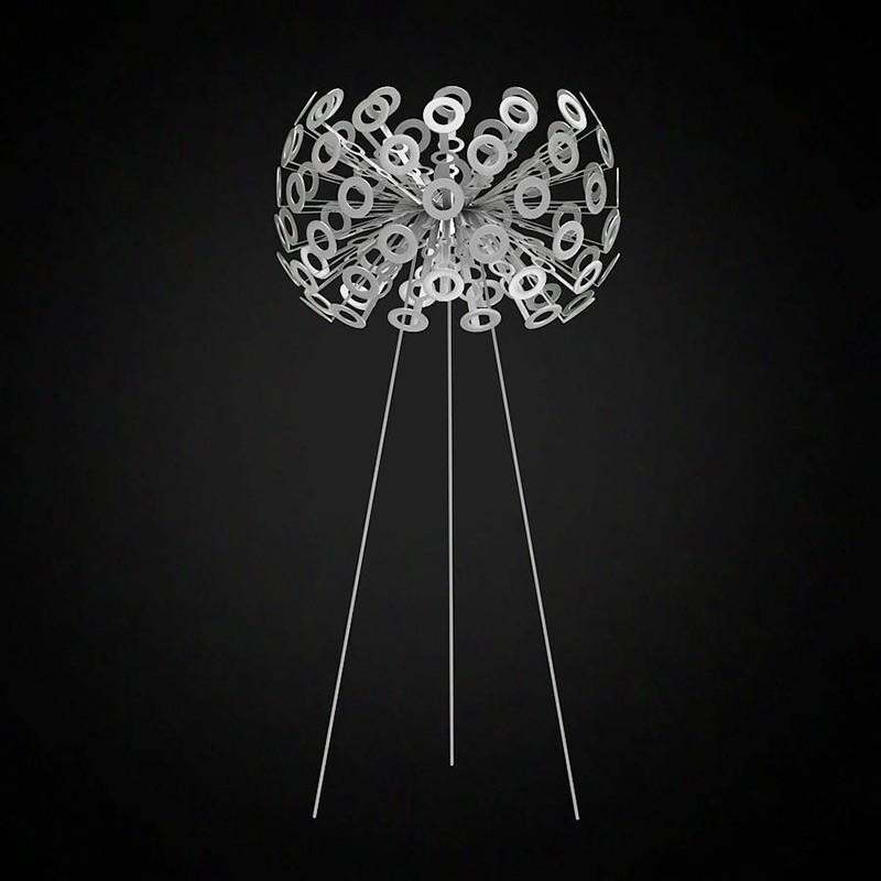 Artpole Светильник напольный Pusteblume F SL, E27, 1х100 Вт, Н130хD50, серебро, хром. мет.