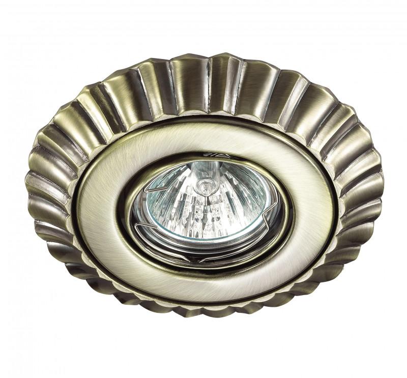 Фото Novotech 370272 NT17 245 бронза Встраиваемый стандартный поворотный светильник GU5.3 50W 12V LIGNA. Купить с доставкой