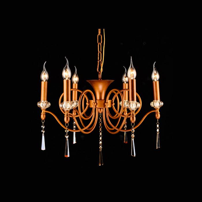 Artpole Светильник подвесной Verzieren C6, E14 6х40 Вт, H72хD60, антично-золотой, шт artpole светильник подвесной melone c bk e14 1х25 вт h11 5 200 макс хd24 9 черный шт