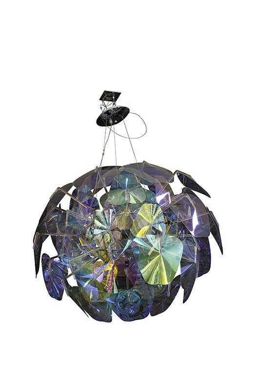 Фото Artpole Светильник подвесной Mondstein C3, E14, 3х60 Вт, H200 (макс)хD80, разноцветный пластик, хром. мет.шт. Купить с доставкой