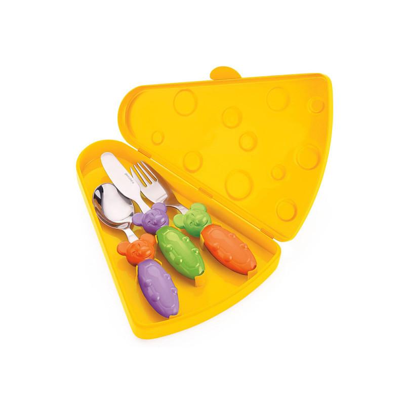 Guzzini Набор столовых приборов tip top tap набор детских столовых приборов guzzini billo цвет оранжевый зеленый 4 предмета