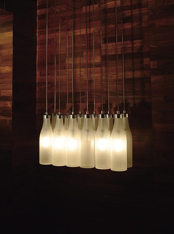 Artpole Светильник подвесной Flasche C2 WH, E14, 12х25 Вт, H200 (макс)хL56хW18, белый, хром. мет. artpole светильник подвесной melone c bk e14 1х25 вт h11 5 200 макс хd24 9 черный шт