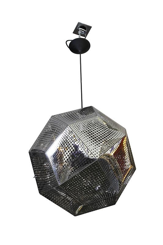 Artpole Светильник подвесной Kristall C2 SL, Е27, 1х100 Вт, H200 (макс)хD48, серебро, шт