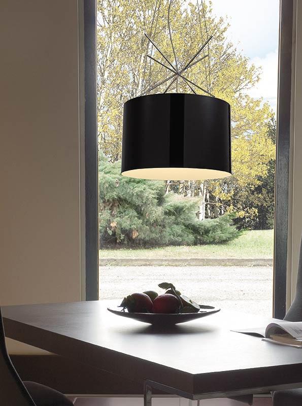 Artpole Светильник подвесной Moderne С BK, E27, 1х100 Вт, H27-150 (макс)хD43, черный, хром. мет., шт подвесной светильник artpole moderne 001224