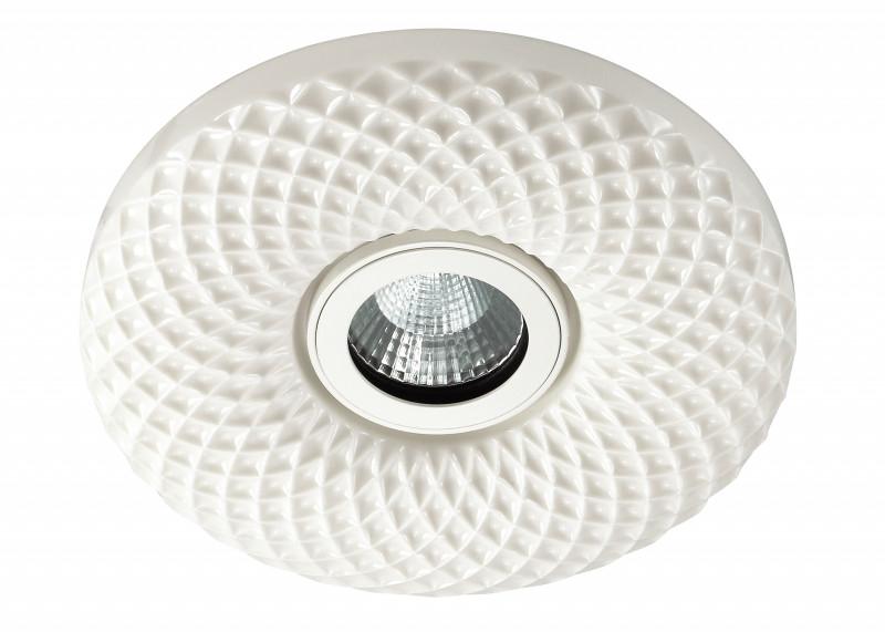 Novotech 357348 NT17 294 белый Встраиваемый светодиодный светильник 5W+25LED 5W 85-265V CERAMIC LED лампочка филипс 007054 b1s 35w e1 04j dot 9285 141 294