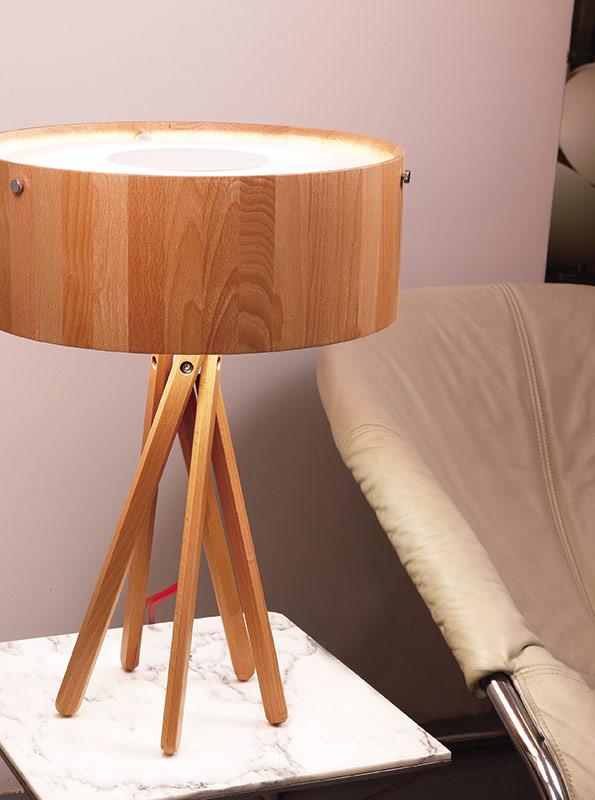 Фото Artpole Светильник настольный Eco T, T5, H55хD40, дерево. Купить с доставкой