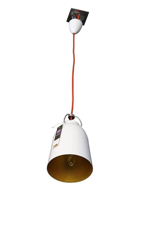 Artpole Светильник подвесной Stille C1 WH, E14, 1х60 Вт, H200 (макс)хD16,5, белый с золотом, шт artpole светильник подвесной melone c bk e14 1х25 вт h11 5 200 макс хd24 9 черный шт