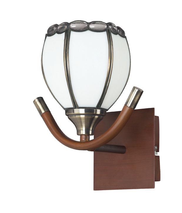 где купить N-Light 607-01-51 antique brass + walnut  + tiffany по лучшей цене