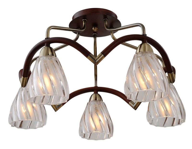N-Light 407-05-53ABW antique brass + walnut n light 407 06 53abw antique brass walnut