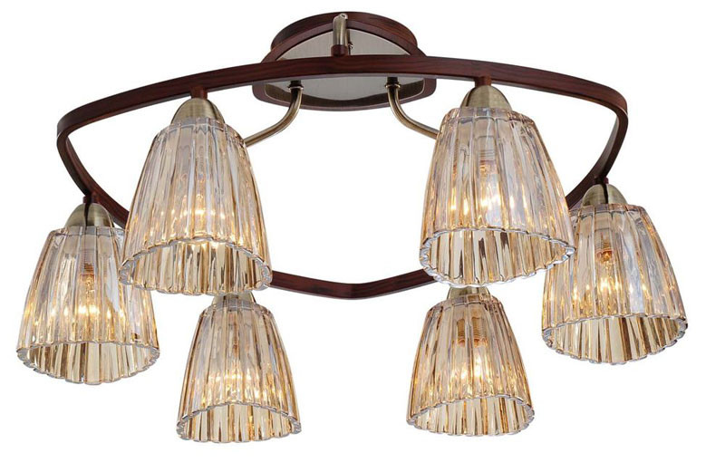 где купить N-Light 408-06-53 antique brass + walnut дешево
