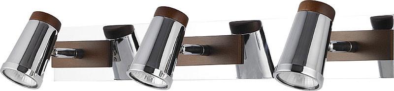 цена на N-Light 6205A/3GU10 chrome + brown wood