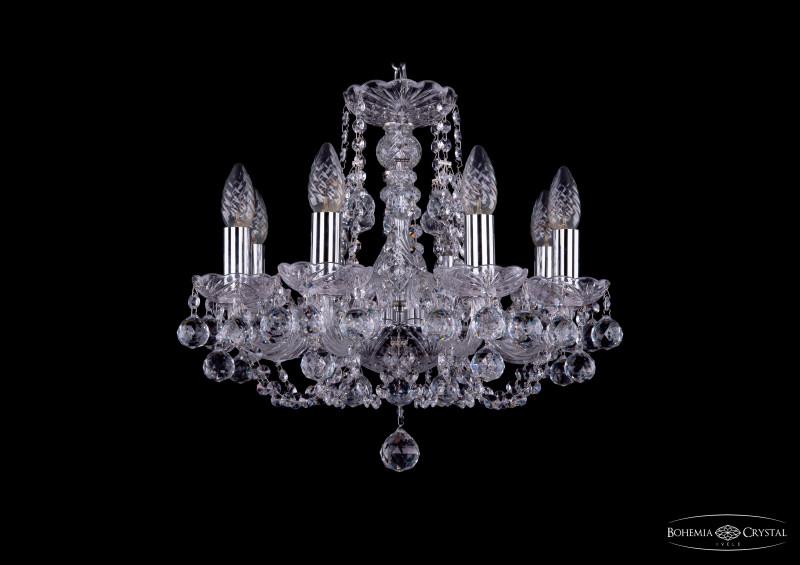 Bohemia Ivele Crystal 1406/8/141/Ni/Balls подвесная люстра bohemia ivele crystal 1406 8 141 ni balls