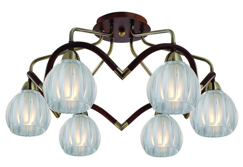N-Light 407-06-53ABWBB antique brass + walnut n light 407 06 53abw antique brass walnut