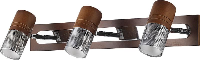 цена на N-Light 6203B/3E14 chrome + brown wood
