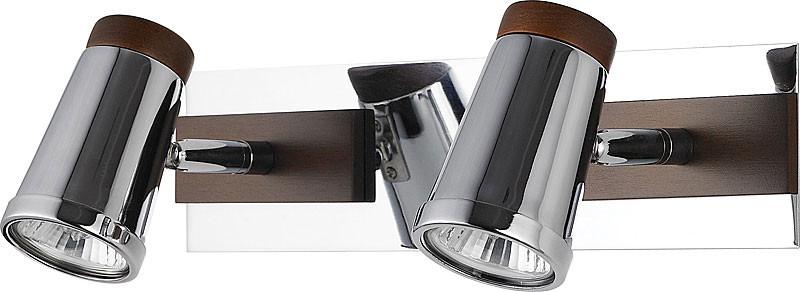 цена на N-Light 6205A/2GU10 chrome + brown wood