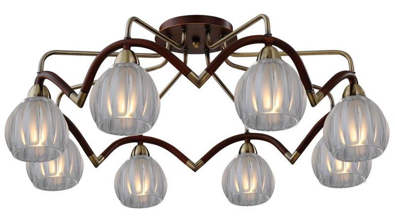 где купить N-Light 407-08-53ABWBB antique brass + walnut по лучшей цене