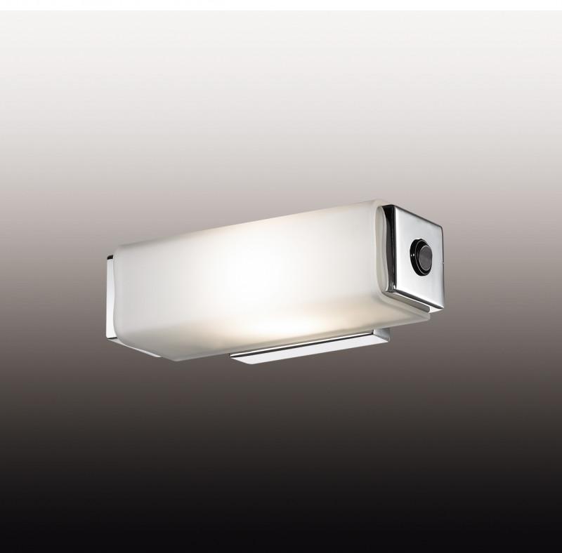 Odeon Light 2731/1W ODL15 822 хром/стекло Настенный светильник с выкл E14 40W 220V KIMA