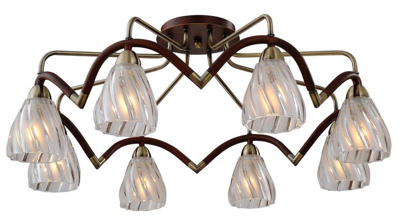 где купить N-Light 407-08-53ABW antique brass + walnut по лучшей цене