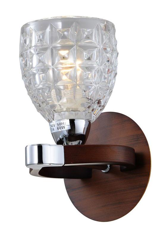 N-Light 415-01-11 chrome + walnut бра n light rianna 415 01 11
