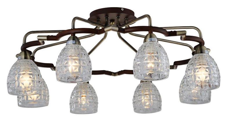 где купить N-Light 412-08-53ABW antique brass + walnut по лучшей цене