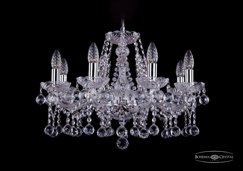 Bohemia Ivele Crystal 1413/8/200/Ni/Balls подвесная люстра bohemia ivele crystal 1413 8 200 ni balls sh4