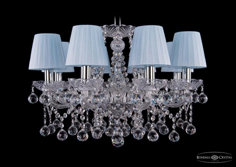 Bohemia Ivele Crystal 1413/8/200/Ni/Balls/SH4 подвесная люстра bohemia ivele crystal 1413 8 200 ni balls sh4