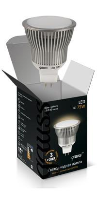 Gauss Лампа MR16 8W GU5.3 4100K AC220-240V FROST Gauss LED new original mr j3 200bn 3ph ac220v 2kw ac servo drive