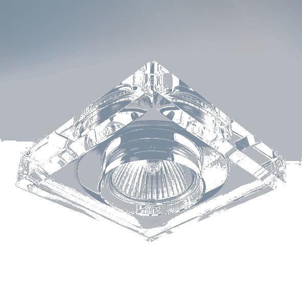 Lightstar 002050 (052920) Светильник SOLO QUAD MR16 ХРОМ/ПРОЗРАЧНЫЙ, шт lightstar solo 002040