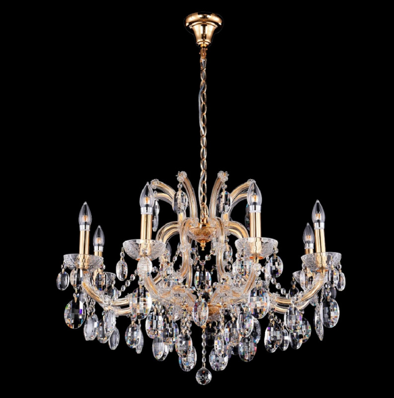 Crystal Lux HOLLYWOOD SP8 GOLD люстра crystal lux fontain sp8
