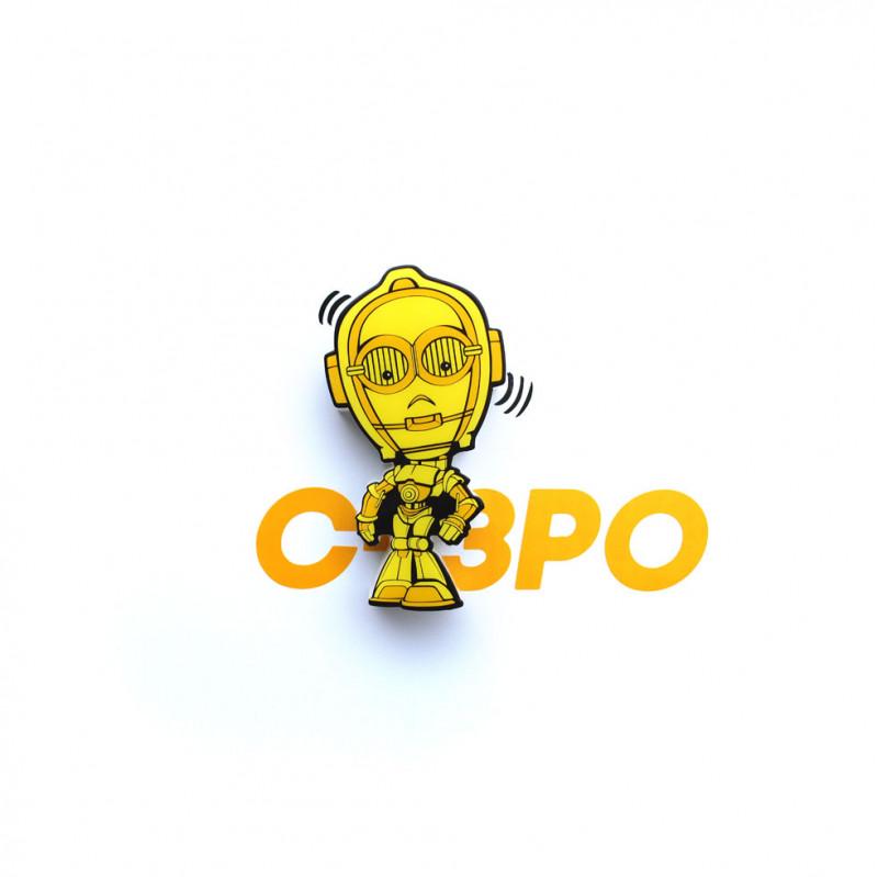 3DLIGHT Светильник ночник детский StarWars (Звёздные Войны)-C-3PO (Золотник, Си-Трипио) игровой аксессуар с детскую 3d ночник starwars звёздные войны йода
