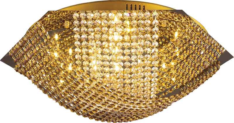 N-Light 2670/16 gold, yellow+white crystal люстра накладная 06 2484 0333 24 gold amber and white crystal n light