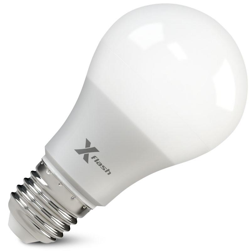 X-Flash Светодиодная лампа XF-E27-GCL-A60-P-10W-3000K 220V X-flash лампа светодиодная x flash xf e27 r90 p 12w 3000k 220v 10шт