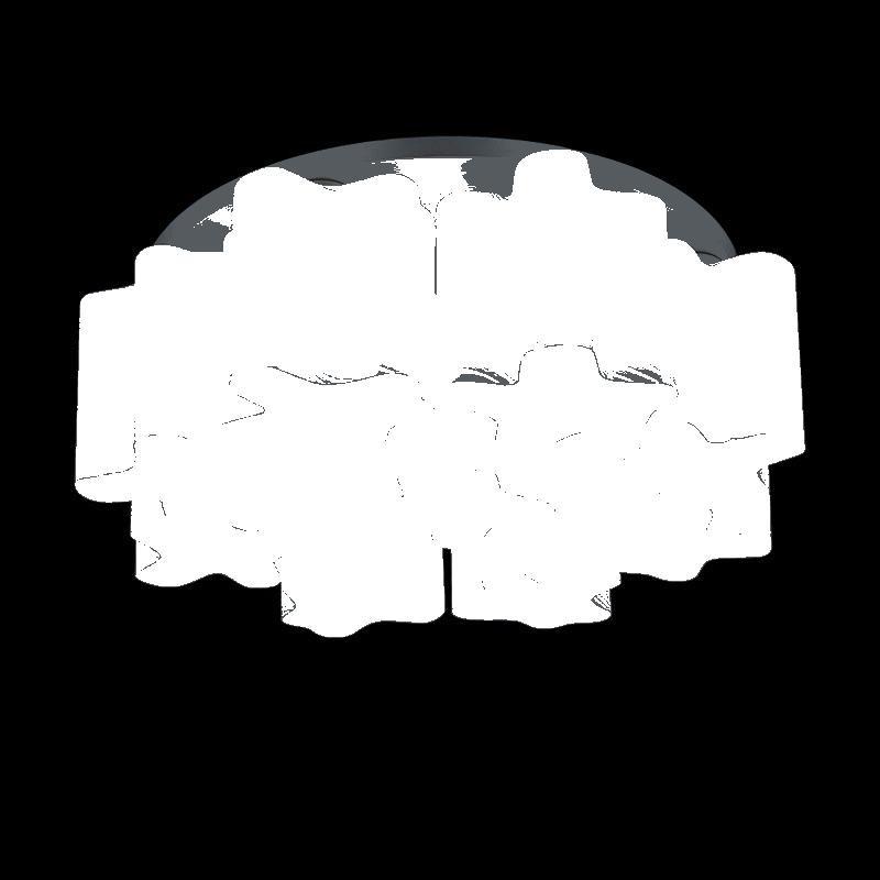 Lightstar 802091 (MC998-9A) Люстра NUBI ONDOSO 9х40W E27 БЕЛЫЙ/ ХРОМ ПОЛОСАТЫЙ, шт 4pcs wbt 0152ag 99 998