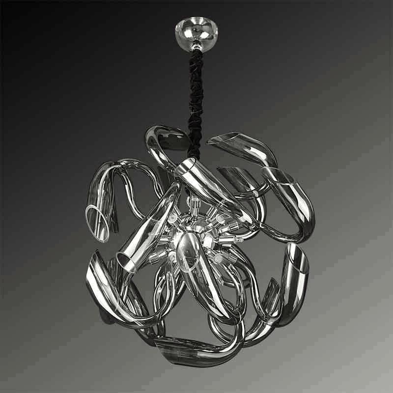 Lightstar 892127*** (MD8126-12) Люстра STELLA LED 12х6W(Led) G9 ДЫМЧАТЫЙ, шт lightstar подвесная люстра lightstar trofeo led895267