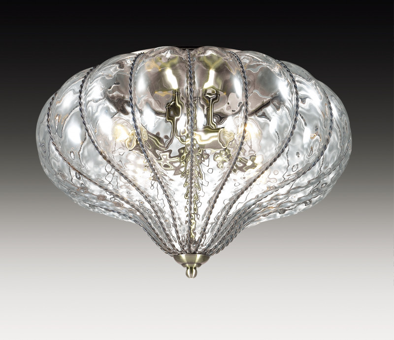 Фото Odeon Light 2684/4C ODL15 326 бронзовый/стекло Люстра потолочная E14 4*60W 220V NARGIZ. Купить с доставкой