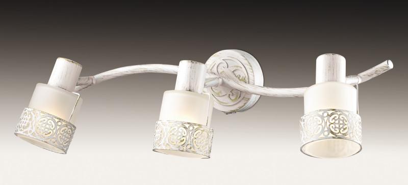 Odeon Light 2786/3W ODL15 761 белый с позолотой/стекло Подсветка с выкл E14 3*40W 220V MATISO cпот точечный светильник odeon light matiso 2786 3w
