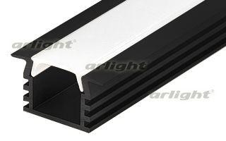 Arlight Алюминиевый Профиль PDS-F-2000 ANOD Black arlight алюминиевый профиль hr 2000