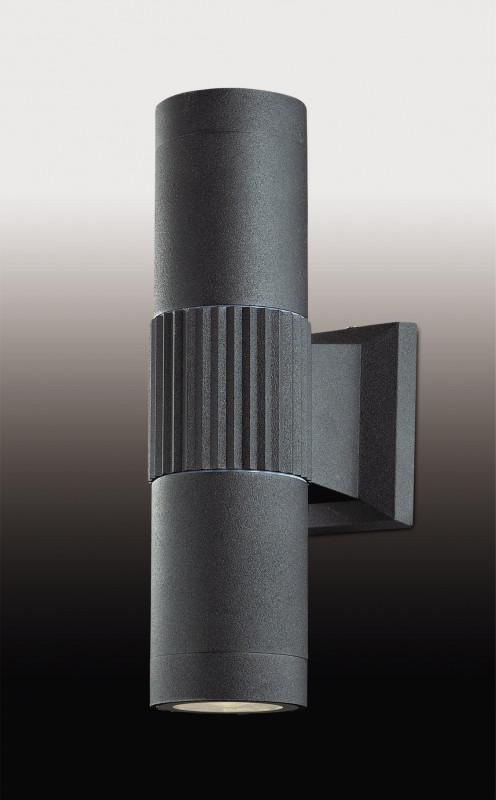все цены на Odeon Light 2689/2WA ODL15 923 черный Уличный настен светильник IP44 E27 2*40W 220V PILAR