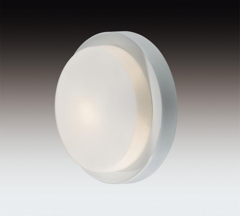 Odeon Light 2745/1C ODL15 867 белый/стекло Н/п светильник IP44 E14 40W 220V HOLGER odeon light 2745 2c odl15 867 белый стекло н п светильник ip44 e14 2 40w 220v holger