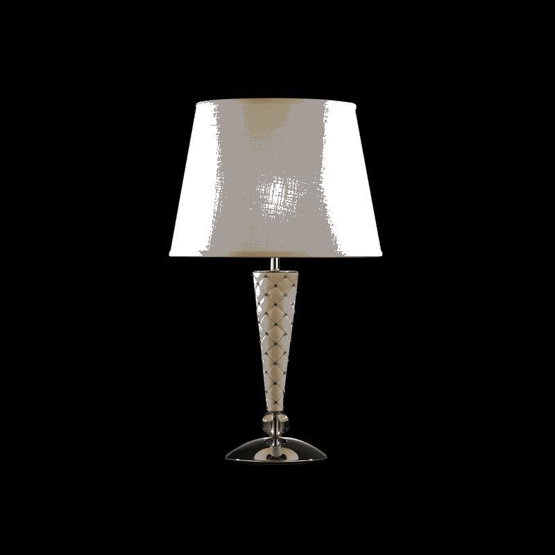 Фото Lightstar 870926 (PD1257-3) Настольная лампа GRAZIA 1х60W E27 КОЖА/БЕЛЫЙ/ХРОМ, шт. Купить с доставкой