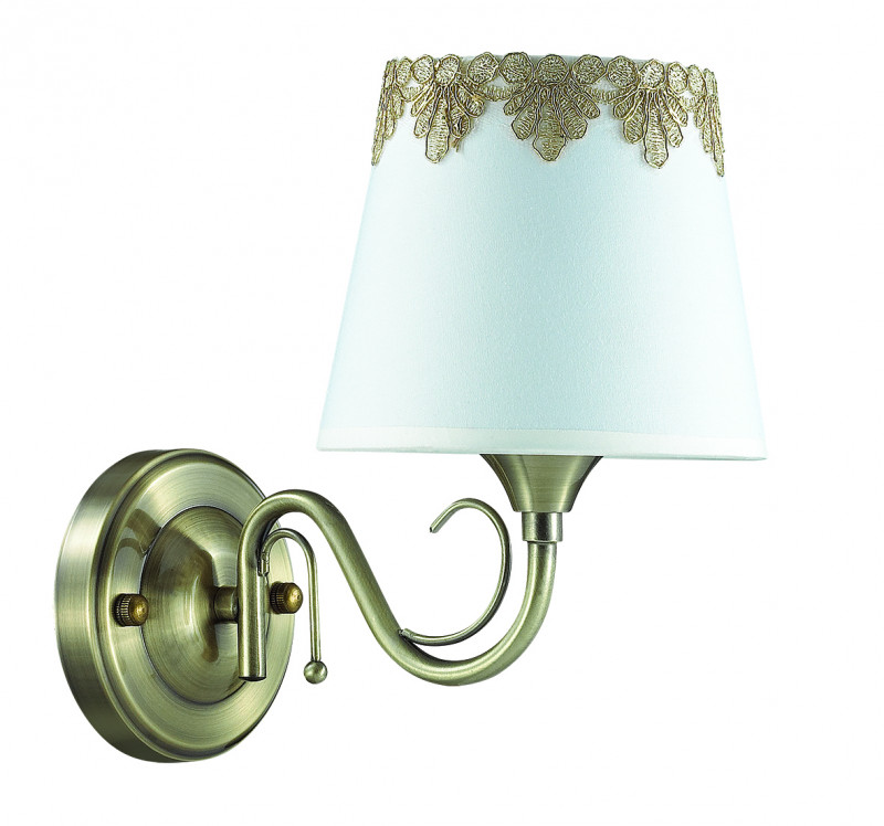 LUMION 2998/1W LN16 000 бронзовый/декор. стекло/ткань Бра Е14 1*40W 220V PLACIDA
