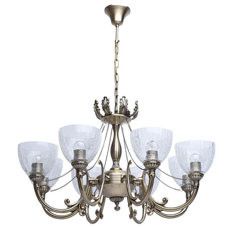 MW-Light 481011608 Аманда бра аманда 1 х 60вт e27 220в бронза антик стекло подвеска
