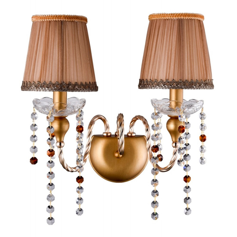 Crystal Lux ALEGRIA AP2 GOLD-BROWN crystal lux бра crystal lux alegria ap2 silver brown