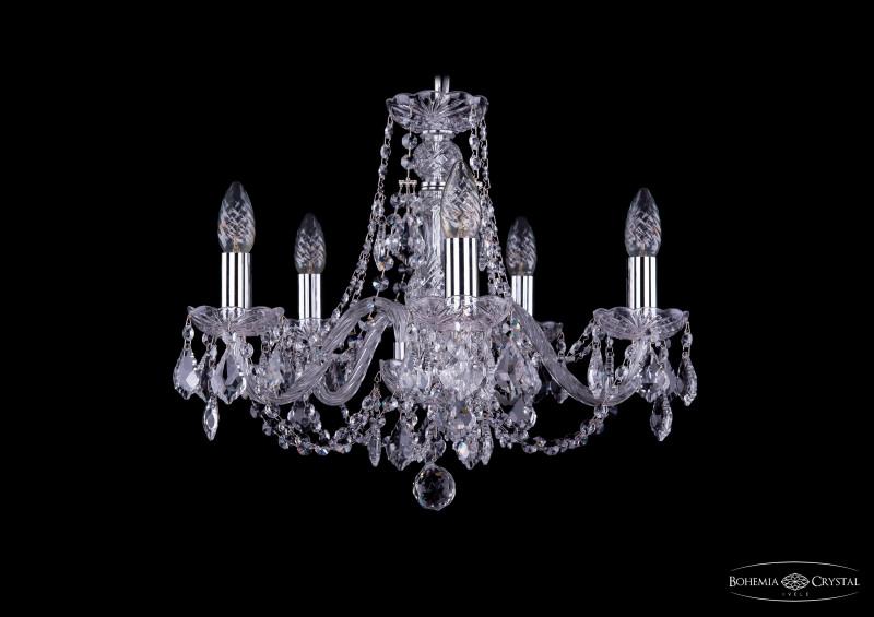 Bohemia Ivele Crystal 1406/5/160/Ni/Leafs bohemia ivele crystal люстра bohemia ivele crystal 1406 5 160 ni leafs